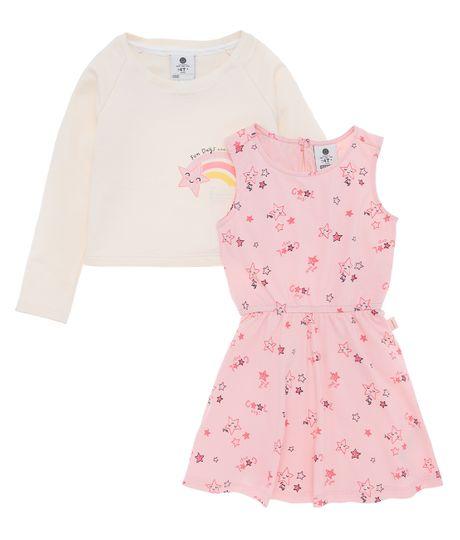 Vestido-manga-larga-Ropa-bebe-nina-Cafe