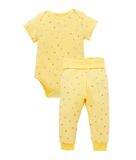 Pijama-Ropa-recien-nacido-nina-Amarillo