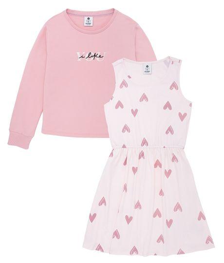 Vestido-manga-larga-Ropa-nina-Rosado