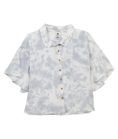 Camisa-manga-corta-Ropa-nina-Azul