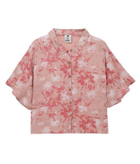 Camisa-manga-corta-Ropa-nina-Rosado