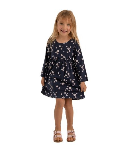 Vestido-manga-larga-Ropa-bebe-nina-Azul