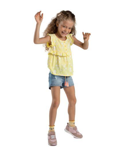 Camisa-manga-sisa-Ropa-bebe-nina-Amarillo