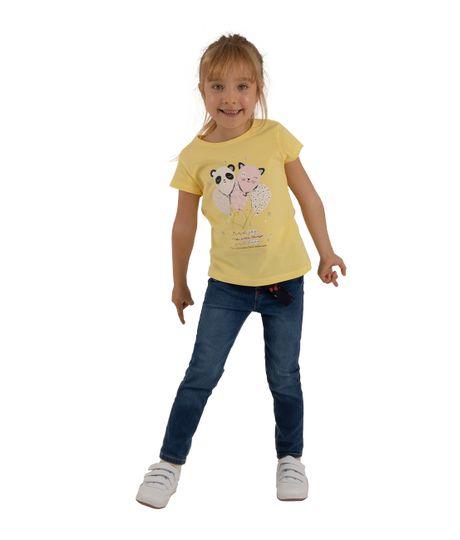 Camiseta-manga-corta-Ropa-bebe-nina-Amarillo