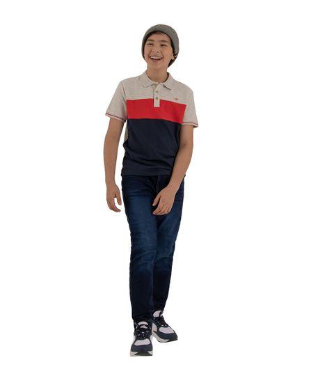 Camiseta-tipo-polo-Ropa-nino-Azul