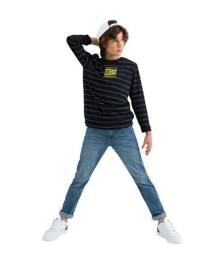 Camiseta-manga-larga-Ropa-nino-Negro