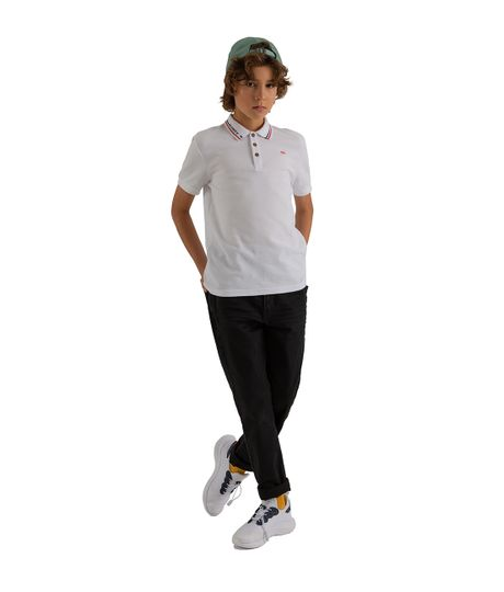 Camiseta-tipo-polo-Ropa-nino-Blanco