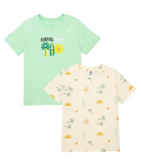 Set-x2-camisetas-Ropa-bebe-nino-Verde