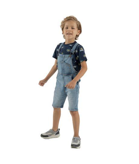 Overall-corto-Ropa-bebe-nino-Indigo-claro