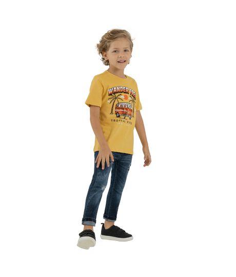 Camiseta-manga-corta-Ropa-bebe-nino-Amarillo