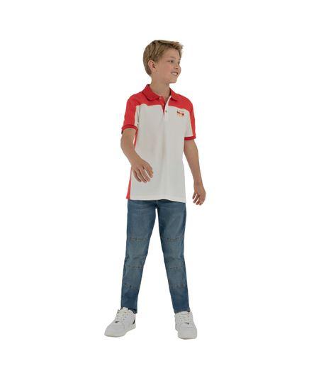 Camiseta-tipo-polo-Ropa-nino-Gris