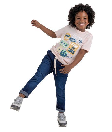Camiseta-manga-corta-Ropa-bebe-nino-Rosado