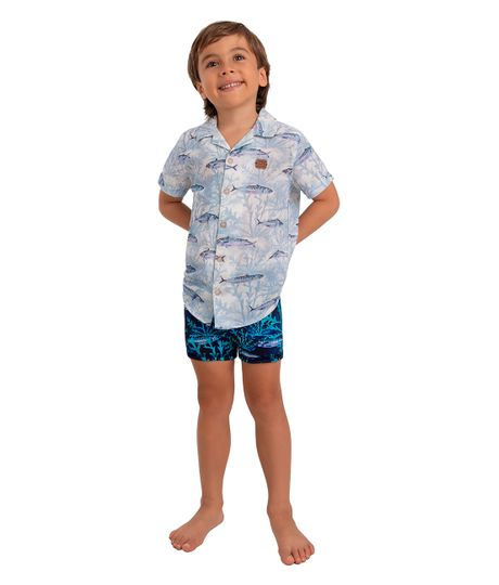 Pantaloneta-de-playa-doble-faz-Ropa-bebe-nino-Azul