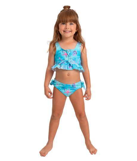 Vestido-de-baño-bikini-Ropa-bebe-nina-Verde