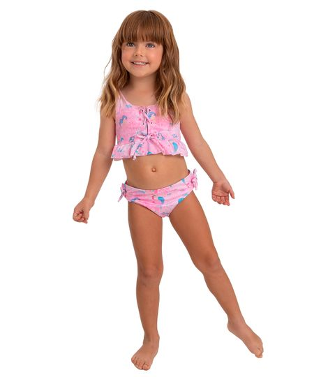 Vestido-de-baño-bikini-Ropa-bebe-nina-Rosado