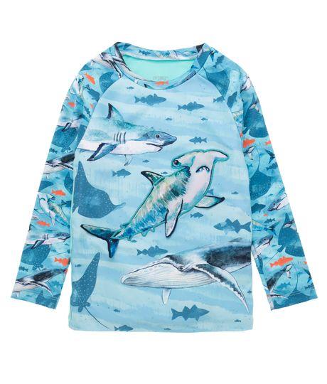 Camiseta-de-playa-manga-larga-Ropa-bebe-nino-Verde
