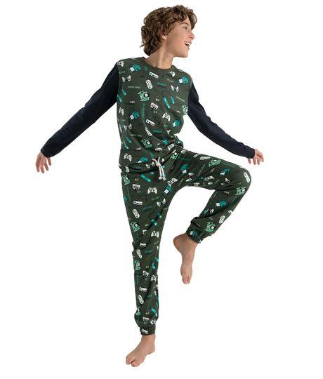 Pijama-Ropa-nino-Verde