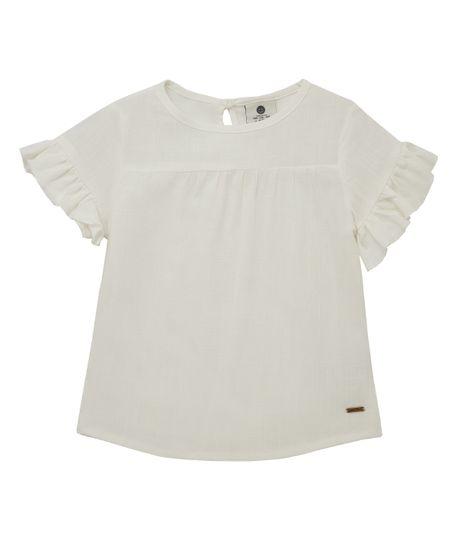 Camisa-manga-corta-Ropa-bebe-nina-Cafe