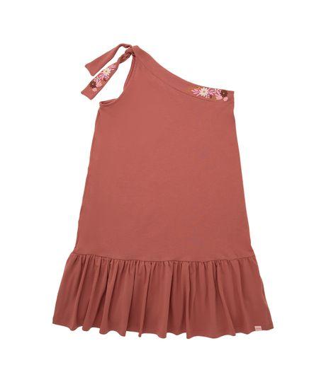 Vestido-manga-sisa-Ropa-nina-Naranja