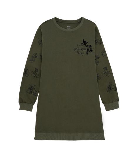 Vestido-manga-larga-Ropa-nina-Verde