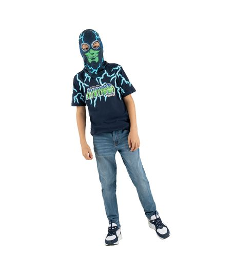 Set-camiseta---mascara-Ropa-nino-Azul
